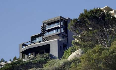 Charcoal Cliffside Abodes - The 'Nettleton' 195 House is Nestled in Cape Town, South Africa
