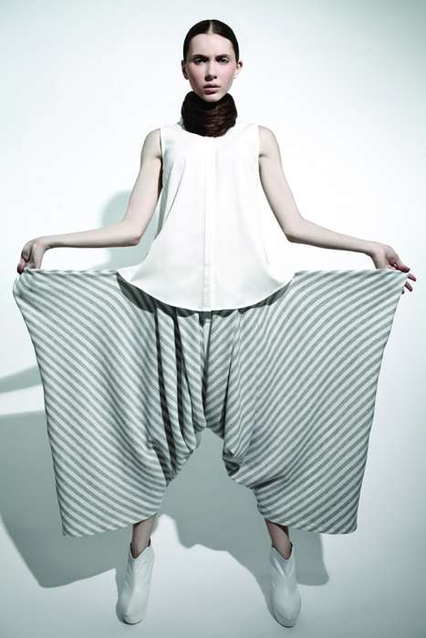 Patterned Parachute Fashion - The MaxTan SS 2012 Collection Redefines Traditional Silhouettes