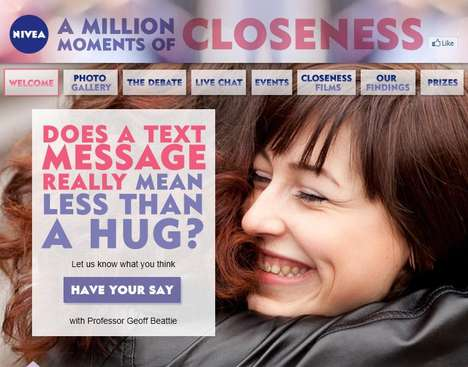 Intimacy-Inviting Campaigns - Nivea 'A Million Moments of Closeness' Promotion