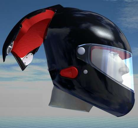 Futuristic Sport Headgear - The New Voztec Helmet May Revolutionize Tramuatic Head Injuries