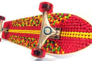 Cody Simpson Receives a Skittles-Covered Longboard Prior To Touring