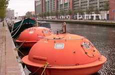 Survival Pod Hotels - The Hague is Made Up of Old Oil Rig Life Rafts