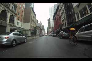 This 'Biking in Hurricane Irene' Clip Ventures Through New York