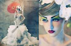Porcelain Geisha Doll Shoots - Amato Haute Couture by Tina Patni Features Stunning Gowns