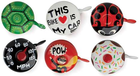 Hand-Painted Bicycle Bells - DringDring Creates Colorful Custom Cycle Accessories
