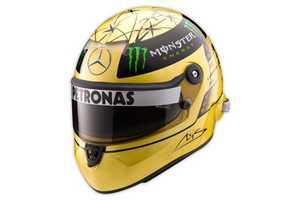 Michael Schumacher Gold-Plated Helmet Celebrates 20 Years