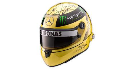 Commemorative F1 Headgear - Michael Schumacher Gold-Plated Helmet Celebrates 20 Years