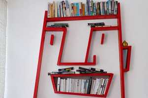 Alexi McCarthy's 'Face Shelving' Puts a Smile & Storage on the Wall