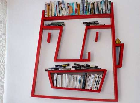 Playful Facial Furniture - Alexi McCarthy's 'Face Shelving' Puts a Smile & Storage on the Wall