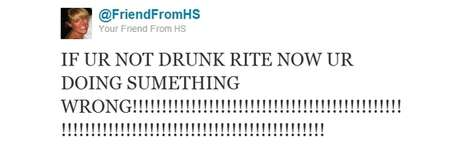 Annoying Classmate Tweets - The 'Your Friend From High School' Twitter Account is Hilarious