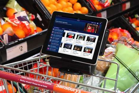 shopping cart iPad mount