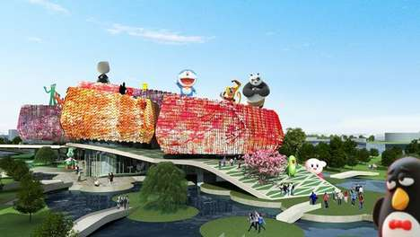 Colorful Cartoonish Structures - The Comic and Animation Museum Embraces Modernity and Tradition