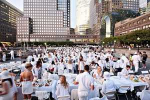 1000 People Gather in White for 'Diner en Blanc' in New York City