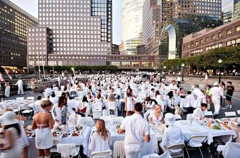 Pop-Up Dinner Parties - 1000 People Gather in White for 'Diner en Blanc' in New York City