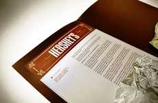 Stimulating Chocolate Branding - The Hersheys Press Kit Features Wrapper-Like Tin Foil