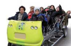 Pedal-Powered School Buses