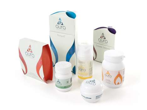 Aura Health Wellbeing Packaging