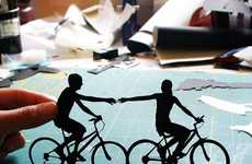 Playfully Romantic Paper Art