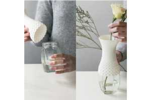 The Lace Vase Turns Recycled Bottles into Ravishing Vessels