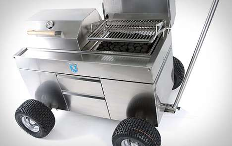 Portable Barbeque Pits - The Brennwagen Grills is for Serious Traveling Cooks