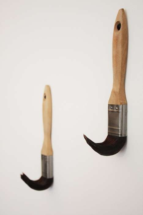 Paint Brush Coat Hooks