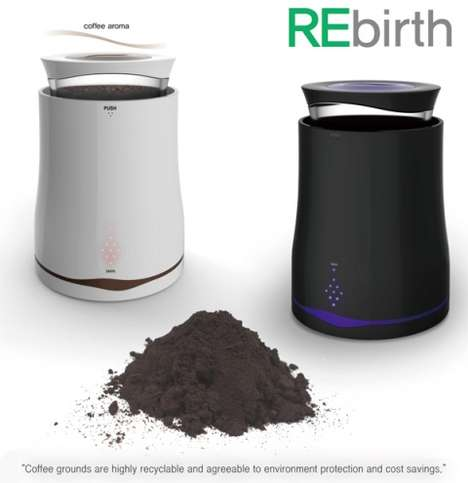 Compact Coffee Dryers - Seul-g Kim's REbirth Makes It Easier to Recycle Used Coffee Grounds