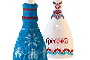 This Russian Vodka Packaging Dons a Knitted Sweater