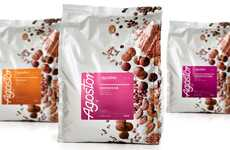 Bubbly Treat Branding - Agostoni Chocolate Packaging Appeals to a Contemporary Taste