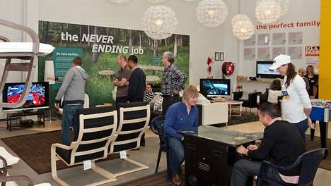 Male-Oriented Retail Playgrounds - IKEA Manland Gives Boyfriends and Husbands a Break from Shopping