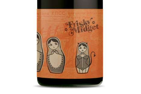 Frisky Midget Wine Packaging