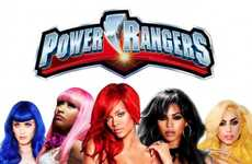 Sultry Celebrity Superheros - The Pop Star Power Rangers are Smoking Hot