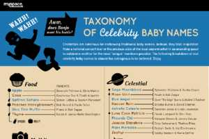 The Taxonomy of Celebrity Baby Names Infographic is Mind-Boggling