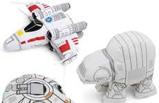 Intergalactic Fighter Ship Cushions