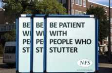 Sensitive Speech Signs - The NFS Stuttering Billboards Teach Compassion
