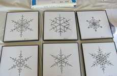 Geometric Snowflake Drawings