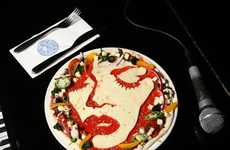 Tomato Pie Portraits - The Pizza Express Celebrity Pizzas Feature Famous Album Covers