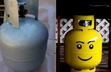 Children's Toy Cooking - The LEGO Head Propane Tank Introduces Whimsy to the Barbecue