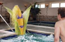 Bikini-Clad Corn Campaigns - These Oral-B Dental Floss Ads Show How Food Follows You