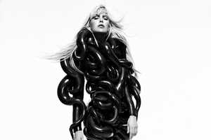 The Dewi Driegen V Magazine Online Shoot is Black and White Bizarre