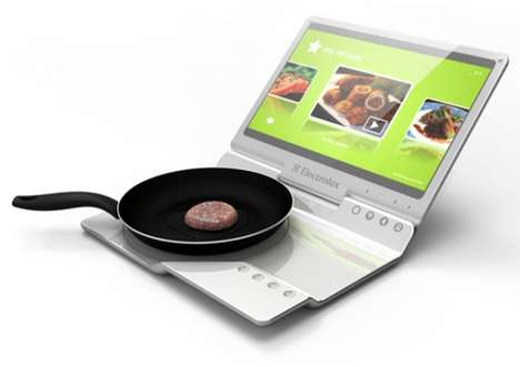 Computing Stovetops - The Electrolux Mobile Kitchen Lets You Cook and Web Surf at the Same Time