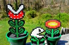 Faux Gamer Flora - Melloduck's Super Mario Bros Potted Plants Let You Own Your Power-up Plants