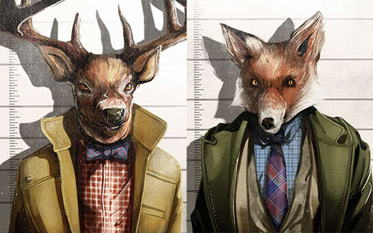 Animal Mugshot Lookbooks