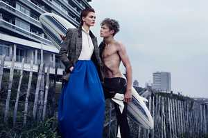 The Rianne ten Haken Avant Garde Magazine Editorial is Beach-Chic