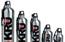 Canteen Booze Bottles - KRU 82 Vodka Presents Eco-Friendly Product Packaging
