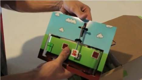 Boxed Video Games - Teagueduino Offers Mario in a Fun Low-Tech Manner