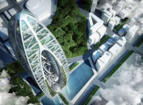 Mile-High Urban Farms - The Bionic Arch is the Latest Eco Project from Vincent Callebaut