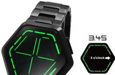 Octagonal Time Tellers - The Kisai Night Vision Watch from Tokyoflash is Surprisingly Easy to Read