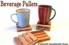 Wood Crate Mug Mats