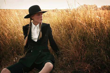 Amorous Amish-Inspired Shoots - Ilva Hetmann and Erin Axtell Flair Italy Present an Edgy Editorial