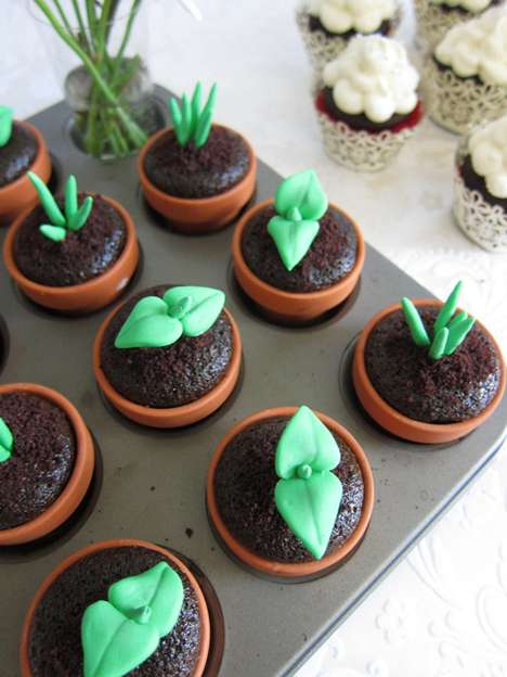 Sweet Sprout Cupcake Toppers